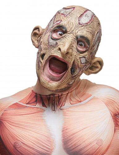 Máscara brujo zombie látex adulto