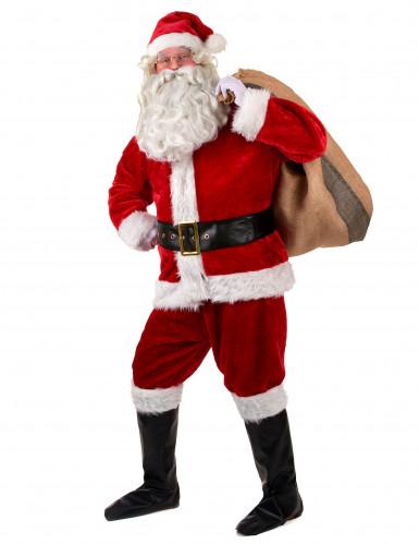 Disfraz completo Papá Noël lujo adulto-1