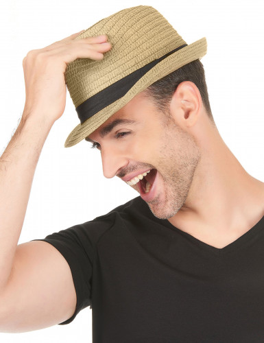 Sombrero borsalino con banda negra adulto-2