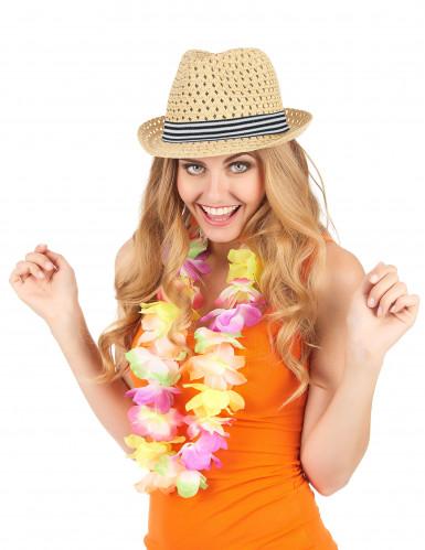 Sombrero borsalino calado con banda tricolor adulto-1