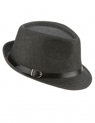 Sombrero borsalino gris con hebilla adulto
