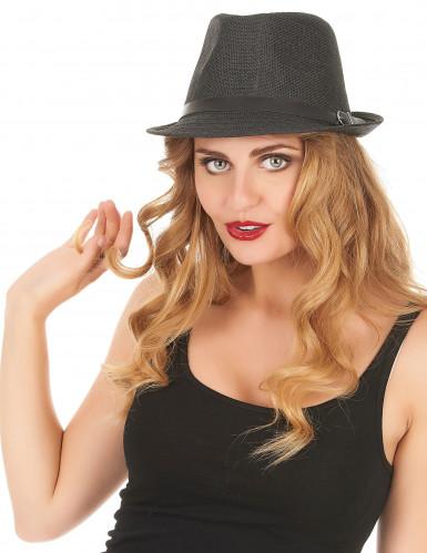 Sombrero borsalino gris con hebilla adulto-1