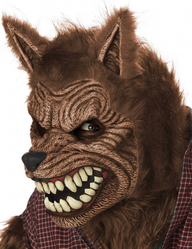 Máscara animada hombre lobo adulto-2