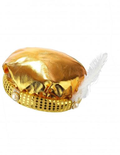 Turbante dorado sultán adulto