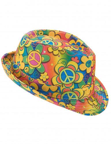 Sombrero borsalino hippie flores adulto
