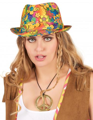 Sombrero borsalino hippie flores adulto-1