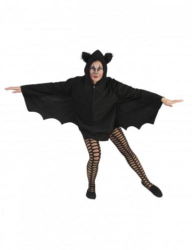 Capa murciélago negro mujer Halloween
