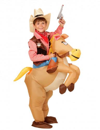Disfraz de caballo del oeste hinchable niño