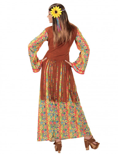 Disfraz hippie flecos mujer-1
