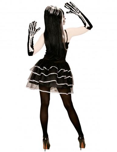 Disfraz de esqueleto tutú mujer Halloween-1