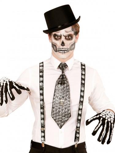 Tirantes negros telaraña adulto Halloween