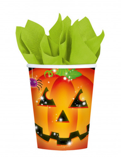 8 Vasos de calabaza Halloween 266 ml