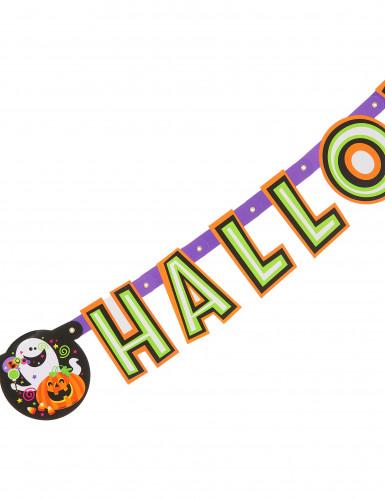 Guirnalda articulada calabaza y compañía Happy Halloween-1