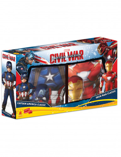 Pack disfraces Iron Man y Capitán América niño - Civil War™-1