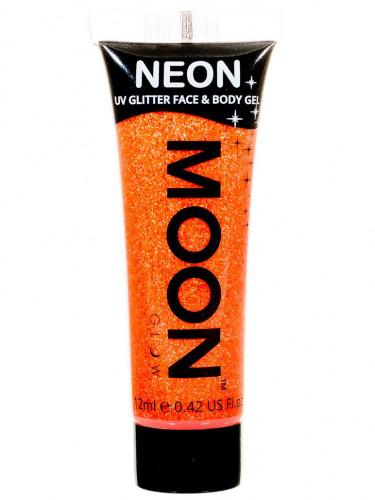 Gel cuerpo y cara purpurina naranja UV 12 ml Moonglow ©