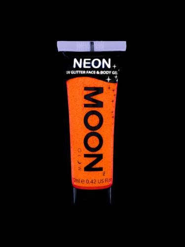 Gel cuerpo y cara purpurina naranja UV 12 ml Moonglow ©-1