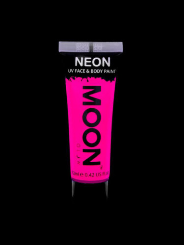 Gel cuerpo y rostro rosa fluorescente UV Moonglow™ 12 ml-1