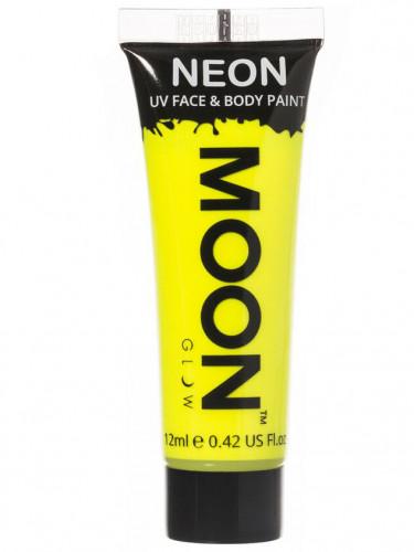 Gel rostro y cuerpo amarillo fluo UV Moonglow™ 12 ml