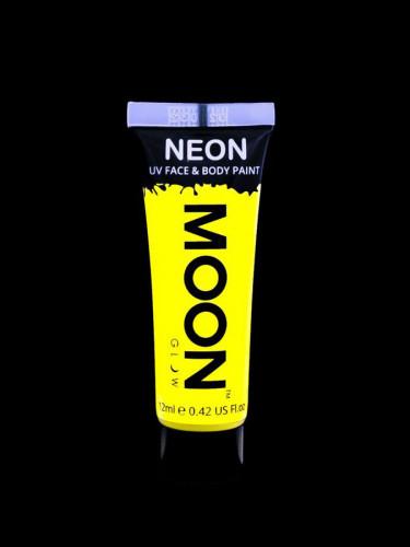 Gel rostro y cuerpo amarillo fluo UV Moonglow™ 12 ml-1
