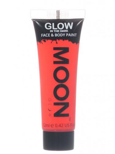 Gel cuerpo y cara rojo fosforescente 12 ml Moonglow ©