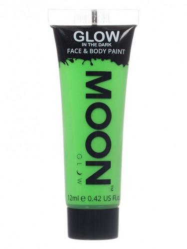 Gel cuerpo y cara verde fosforescente 12 ml Moonglow ©
