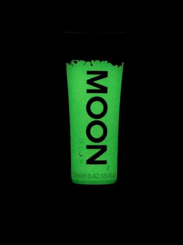 Gel cuerpo y cara verde fosforescente 12 ml Moonglow ©-1