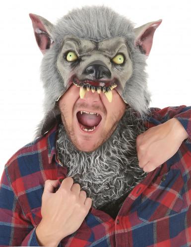 Máscara hombre lobo látex adulto