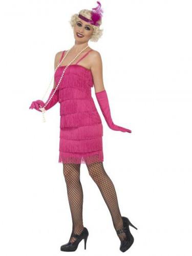 Disfraz Charlestón rosa fucsia mujer-1