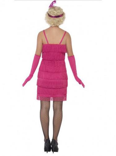 Disfraz Charlestón rosa fucsia mujer-2