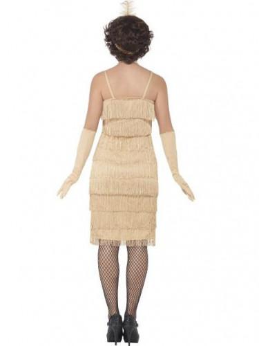 Disfraz charlestón beige mujer-2