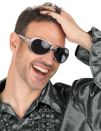 Gafas redondas plateadas adulto-2
