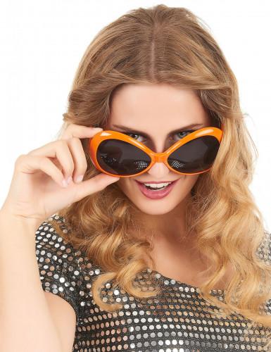Gafas disco adulto naranja-1
