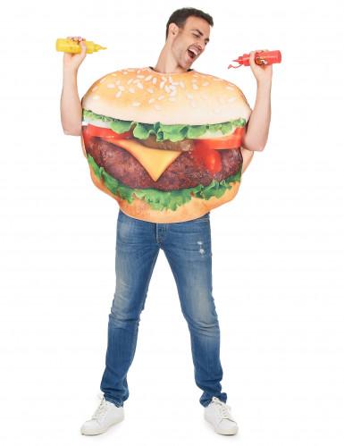 Disfraz hamburguesa adulto
