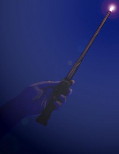 Réplica varita luminosa Harry Potter™-1