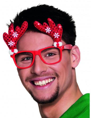 Gafas reno adulto para Navidad