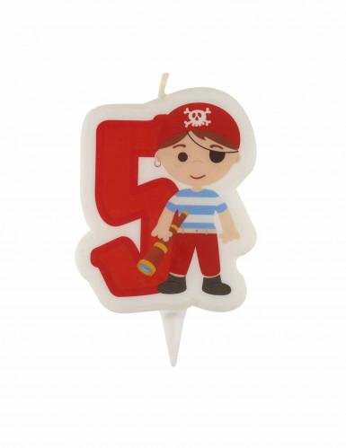 Vela de cumpleaños pirata cifra 5