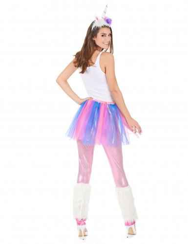 Disfraz de unicornio multicolor mujer-2