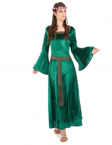 Disfraz medieval mujer verde