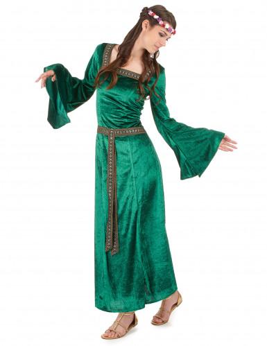 Disfraz medieval mujer verde-1