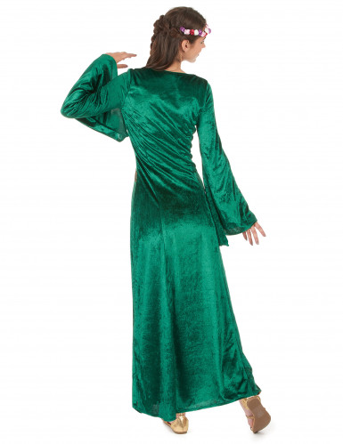 Disfraz medieval mujer verde-2