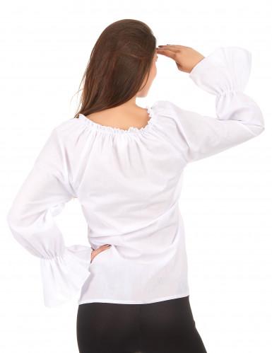 Camisa manga larga blanca mujer-1