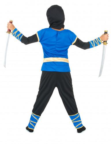 Disfraz de ninja azul y dorado niño-2