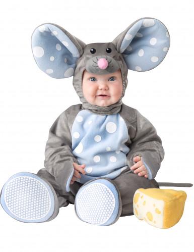 Disfraz de ratón gris para bebé -Lujo