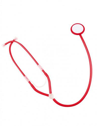 Estetoscopio enfermera rojo adulto-1