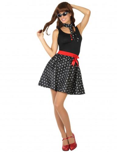 Disfraz años 50 vestido negro