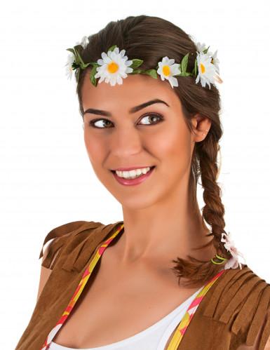 Corona de flores margarita adulto