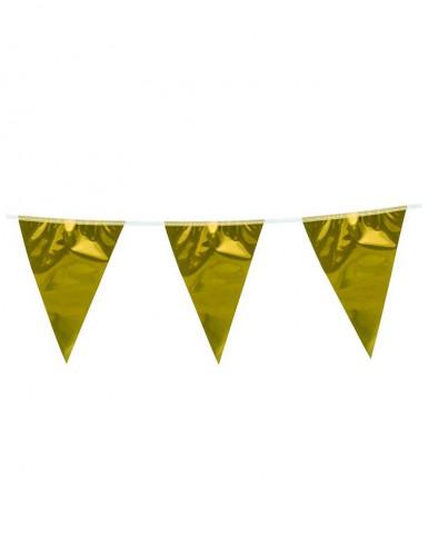 Guirnalda banderines dorados 10 m