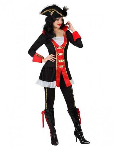 Disfraz de almirante pirata mujer