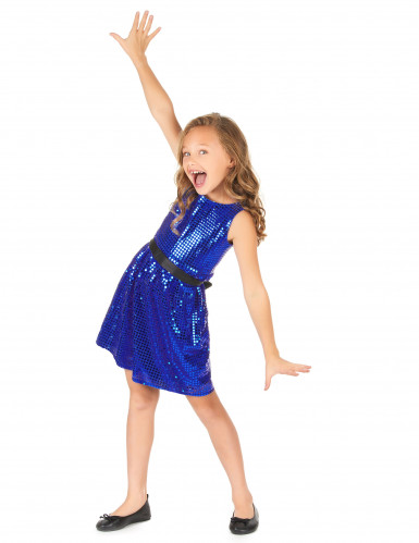 Disfraz disco vestido azul lentejuelas lazoniña-1