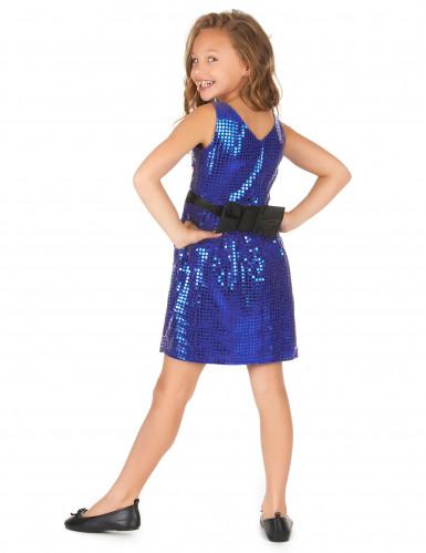 Disfraz disco vestido azul lentejuelas lazoniña-2
